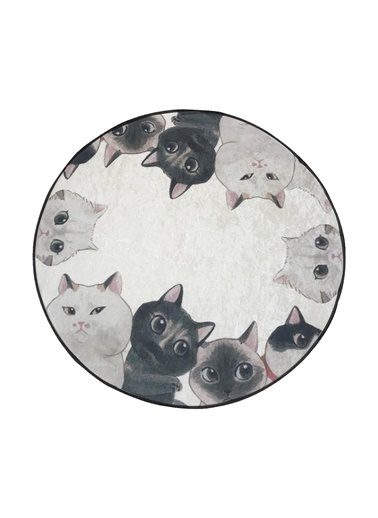 Chilai Home Angry Cats Paspas 100 Cm Siyah